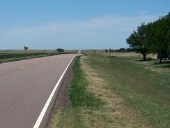 US 40 crossing the Great Plains in Kansas