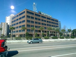 Univision building in Houston
