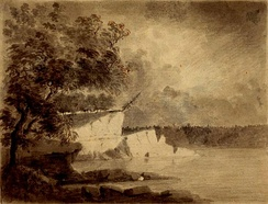 A scene along the Wabash River, sketched in 1778 by Lt Governor Henry Hamilton en route to recapture Vincennes, Indiana