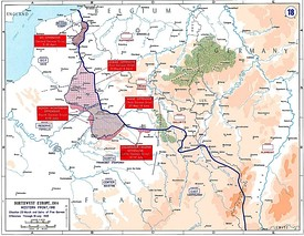 Map of the final German offensives, 1918