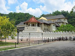 The Temple of the Tooth Relic in Kandy, Sri Lanka