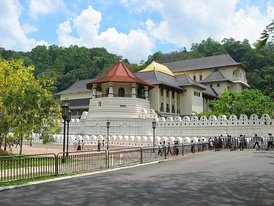 The Temple of the Tooth was renovated during the Buddhist revival.