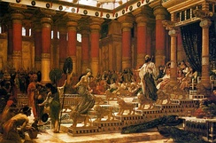 The Visit of the Queen of Sheba to King Solomon, oil on canvas painting by Edward Poynter, 1890