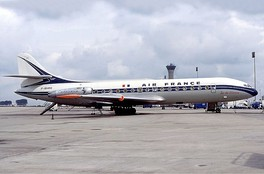 Air France Caravelle jetliner in 1977