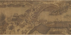 Zhang Zeduan's painting Along the River During the Qingming Festival captures the daily life of people from the Song dynasty at the capital, Bianjing, today's Kaifeng.