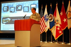 Vice Chief of Staff of the U.S. Army General Peter Chiarelli hosts the second Industry Day meeting