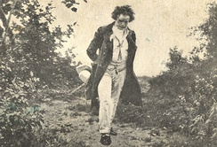 Beethoven's walk in nature, by Julius Schmid