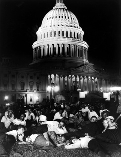 Members of the Bonus Army camped out on the lawn of the U.S. Capitol building