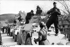 Italian armored cars in the Balkans.