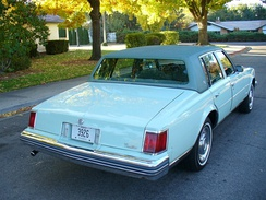 Rear view of 1977 Cadillac Seville