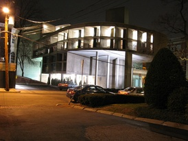 The Carpenter Center at night