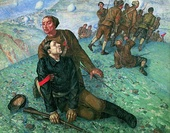 Kuzma Petrov-Vodkin, The death of the Political Commissar (1928)