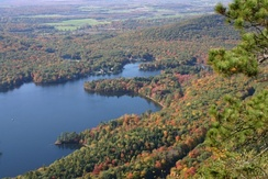 Lake Dunmore is located in Salisbury and Leicester, entirely within Addison County.