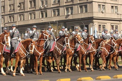 A mounted military band of the Chilean Army, in 2011