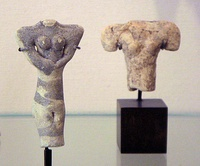 Female figurines Ubaid IV, Tello, ancient Girsu, 4700-4200 BC. Louvre Museum AO15327.[23]