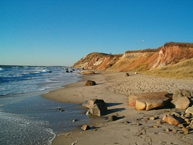 Gay Head Cliffs on Martha's Vineyard.