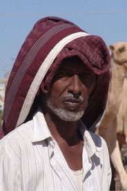 A camel trader in Hargeisa, Somalia.
