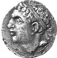 Carthaginian coin depicting Hasdrubal Barca (245–207 BC), younger brother of Hannibal Barca (247-c.182 BC)