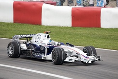 Nick Heidfeld finished second to make it a BMW Sauber one-two.