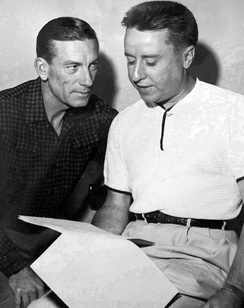 Hoagy Carmichael and George Gobel in 1954