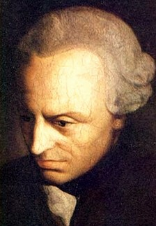 Painting of Kant looking downward