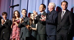 Caine (second from right) with the cast of Inception at the 10 July premiere in 2010