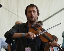 Jon Boden with Bellowhead at the Cambridge Folk Festival 2009