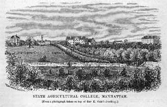 The college in 1878, three years after moving to its current location
