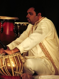 Tabla player Ustad Munawar Khan at the 8th International Music Festival in Kuwait