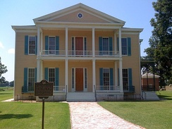 Lakeport Plantation, c. 1859 and built south of Lake Village, is the only remaining antebellum plantation house  on the Mississippi River in Arkansas. Many planters became wealthy from the cotton industry in southern Arkansas.