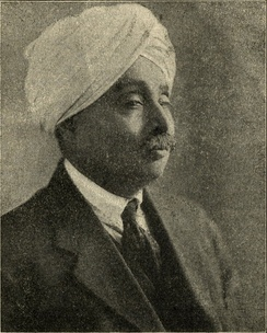 Photo of Rai printed in the February 1920 issue of Young India.