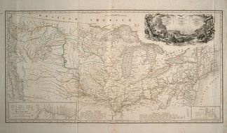 Map of his 1832-1834 North American travels.