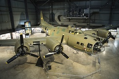 Memphis Belle at the National Museum of the United States Air Force after its restoration was completed