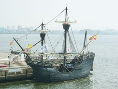 Replica of Magellan's Victoria. Ferdinand Magellan led the first expedition that circumnavigated the globe in 1519–1522.
