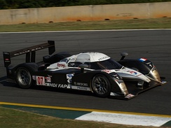 Sarrazin driving the Peugeot 908 HDi FAP at the 2008 Petit Le Mans.