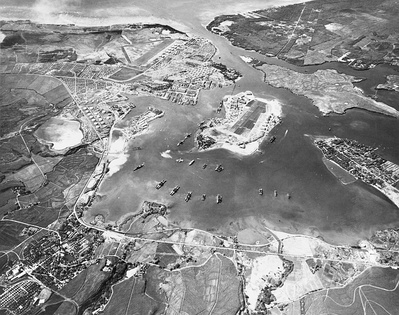 Pearl Harbor on October 30, 1941, looking southwest
