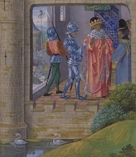 Richard being taken into custody by the Earl of Northumberland (Froissart)