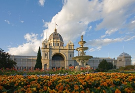 The Royal Exhibition Building in Melbourne is the site of the first sitting of Federal parliament.