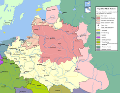 The Polish-Lithuanian Commonwealth at its greatest extent.