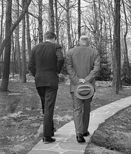 Eisenhower with John F. Kennedy, in a Pulitzer Prize-winning photo