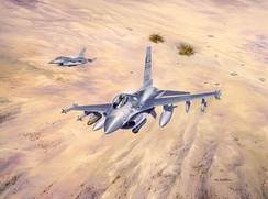 Swamp Foxes in Operation Desert Storm, Air National Guard Art, 1992
