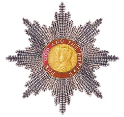 Grand Cross star of the Order of the British Empire