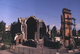 The Holy Saviour's Church in Gyumri after the earthquake