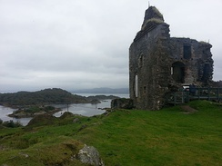 The remains of Tarbert castle