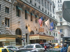 Main entrance to The St. Regis on E. 55th St..