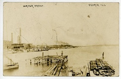 Waterfront in Peoria, Illinois, c. 1909
