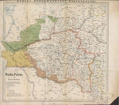 A map of Greater Poland/Great Poland during Piast period from the Codex diplomaticus Maioris Poloniae, based on data from historical documents