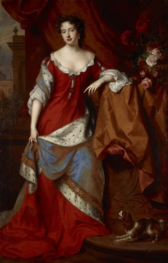 Anne, circa 1684, painted by Willem Wissing and Jan van der Vaardt