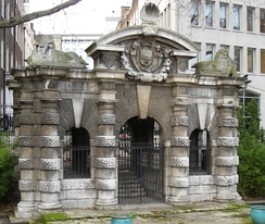 The Italianate York Water Gate – the entry to York House, built about 1626, the year of Bacon's death