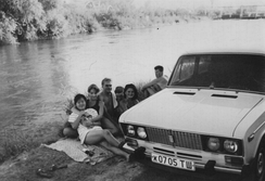 A group of youth in Uzbekistan, 1995